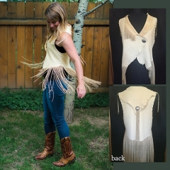 short-creme-vest-fringes