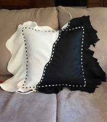 Black-White-Leather-Pillow